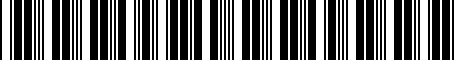 Barcode for 0027600900